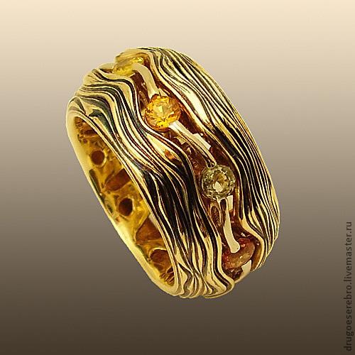 Кольца ручной работы. Ярмарка Мастеров - ручная работа. Купить Кольцо Море, золото 585. Handmade. Необычное украшение