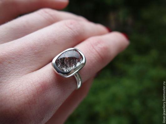 """Кольца ручной работы. Ярмарка Мастеров - ручная работа. Купить """"Amritano""""- чудесное серебряное кольцо с турмалиновым кварцем. Handmade."""