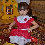 """Работы для детей, ручной работы. Ярмарка Мастеров - ручная работа Платье для девочки """"Малинка"""". Handmade."""