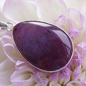 Украшения handmade. Livemaster - original item Pendant with purple chalcedony