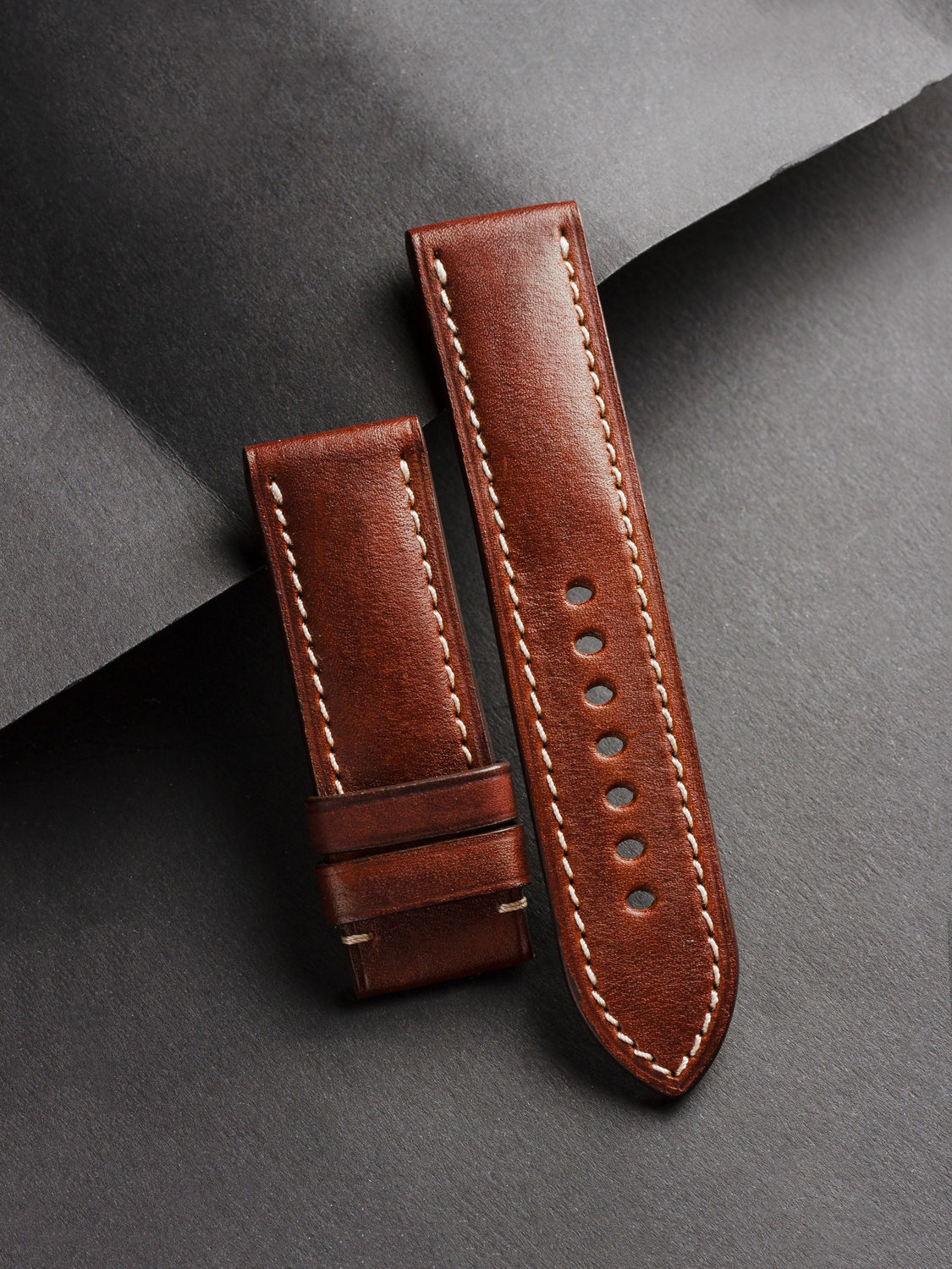 Calf leather watchband (47), Watch Straps, St. Petersburg,  Фото №1
