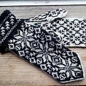 Аксессуары handmade. Livemaster - original item Mittens knitted women`s woolen