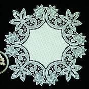 Для дома и интерьера handmade. Livemaster - original item Napkin made of eco-leather and lace decorative.. Handmade.