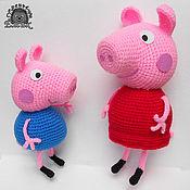 Куклы и игрушки ручной работы. Ярмарка Мастеров - ручная работа Свинка Пеппа и Джордж. Handmade.