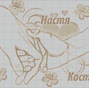 Подарки к праздникам ручной работы. Ярмарка Мастеров - ручная работа схема для вышивки свадебная метрика. Handmade.