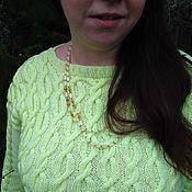 Одежда handmade. Livemaster - original item Jumper (pullover) knitted female Spring. Handmade.
