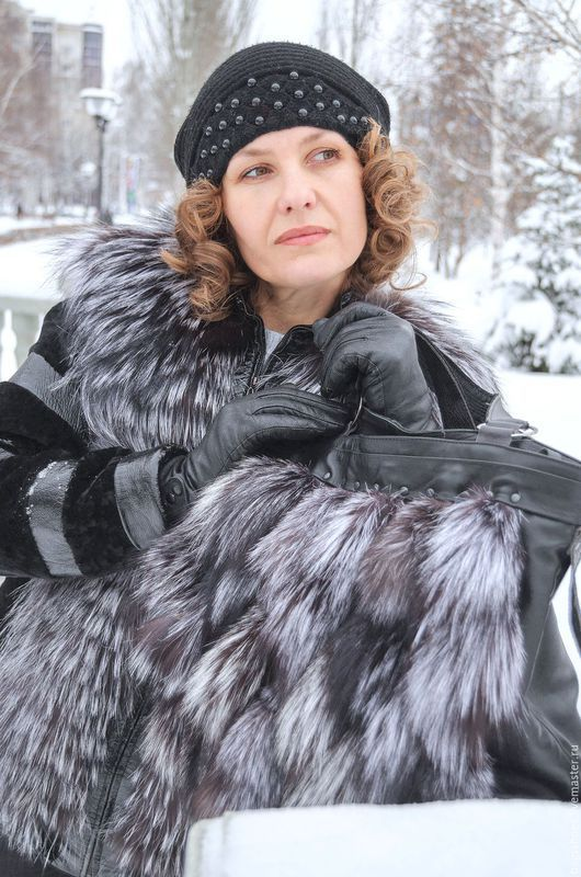 """Верхняя одежда ручной работы. Ярмарка Мастеров - ручная работа. Купить Меховая куртка """"Зима""""(куртка + сумка ). Handmade."""