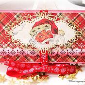 """Подарки к праздникам ручной работы. Ярмарка Мастеров - ручная работа Шоколадница """"Санта"""". Handmade."""