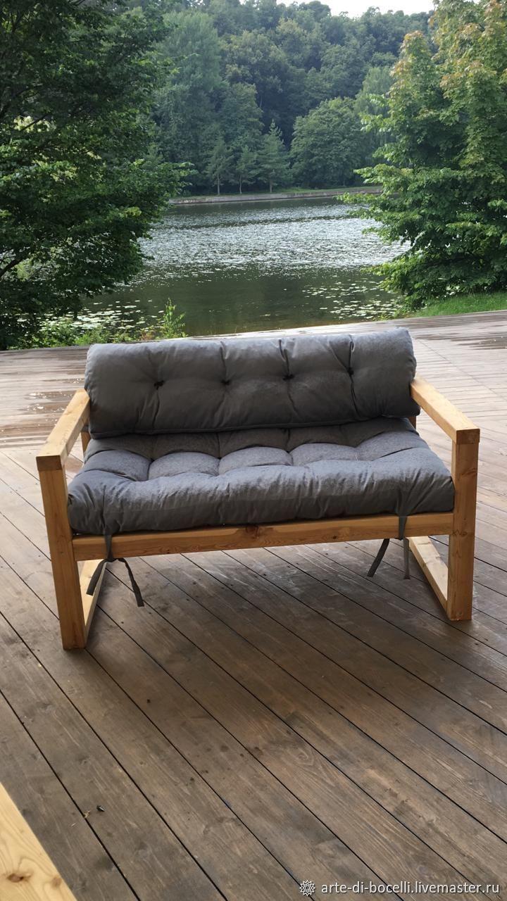 Sofa made of solid wood. Sofa from pallet (pallets), Suspension, Moscow,  Фото №1
