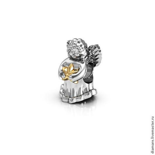 Серебряный шарм `Ангел`.Арт. 05-0202.