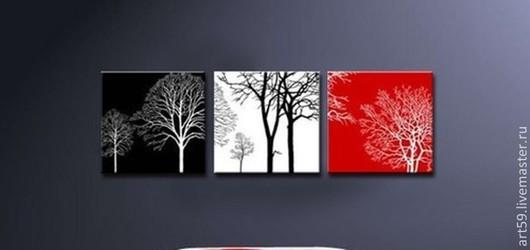 """Абстракция ручной работы. Ярмарка Мастеров - ручная работа. Купить """" Три цвета жизни"""". Handmade. Картина, абстракция, абстракционизм"""