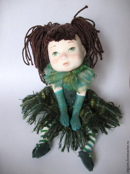 """Коллекционные куклы ручной работы. Ярмарка Мастеров - ручная работа. Купить Кукла  Мечталка """"Травяная"""" в частной коллекции. Продана. Handmade."""