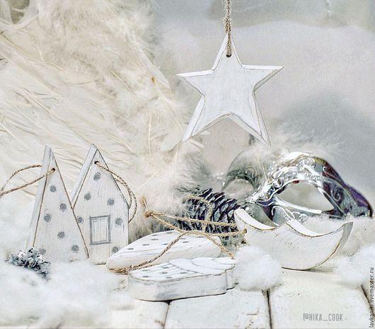 """Новый год 2017 ручной работы. Ярмарка Мастеров - ручная работа. Купить Ёлочные игрушки """"Christmas mood """". Handmade. Белый"""