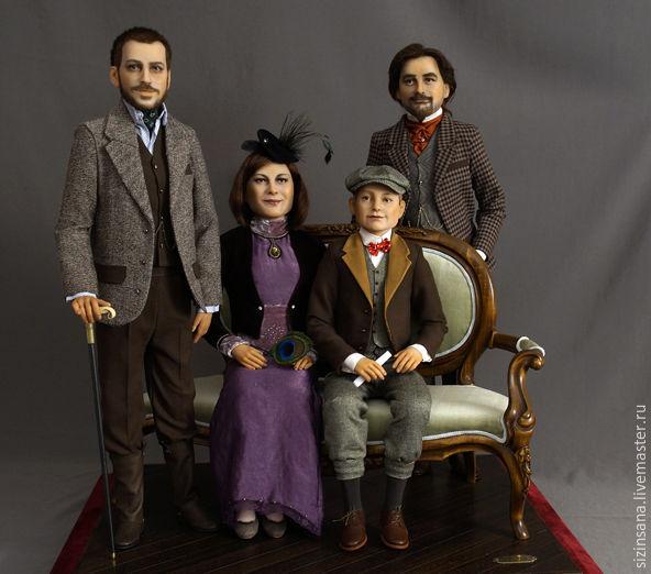 Семейный портрет. Портретные куклы, Портретная кукла, Москва,  Фото №1