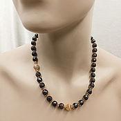Работы для детей, handmade. Livemaster - original item With garnet beads. Accessories with zircons. Handmade.
