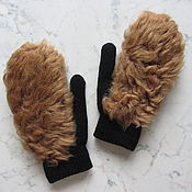 Аксессуары handmade. Livemaster - original item Mittens with the fur