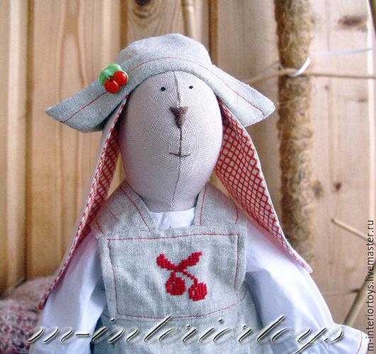 Куклы Тильды ручной работы. Ярмарка Мастеров - ручная работа. Купить Тильда заяц Вишенка. Handmade. Бежевый, тильда кукла