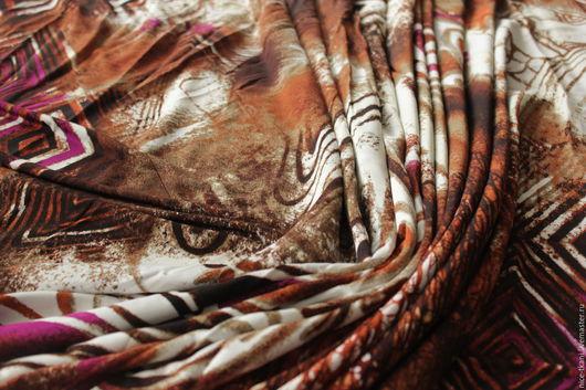 """Шитье ручной работы. Ярмарка Мастеров - ручная работа. Купить СКИДКА! 22701 итальянская плательная вискоза-масло """"Африка"""". Handmade."""