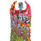 """Картины и панно ручной работы. Ярмарка Мастеров - ручная работа картина  """"АНГЕЛ  - 17"""" (серия). Handmade."""