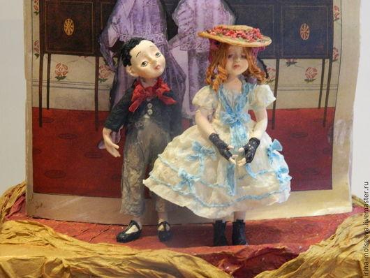 Коллекционные куклы ручной работы. Ярмарка Мастеров - ручная работа. Купить LIFE 1910. Handmade. Голубой, подарок оригинальный