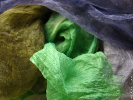 Валяние ручной работы. Ярмарка Мастеров - ручная работа. Купить Набор шелков Ирландия. Handmade. Ирландия, набор шелков, нунофелтинг