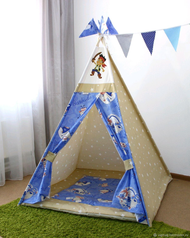 Детский вигвам палатка в комплекте, детский шалаш, Бизиборды, Иваново,  Фото №1