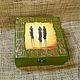 Шкатулки ручной работы. Ярмарка Мастеров - ручная работа. Купить Шкатулка Африка. Handmade. Зеленый, африканский, акриловые краски и лак