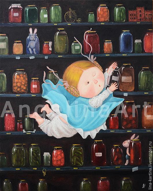 Репродукции ручной работы. Ярмарка Мастеров - ручная работа. Купить Алиса в стране чудес. Картина маслом, копия Гапчинской.. Handmade.