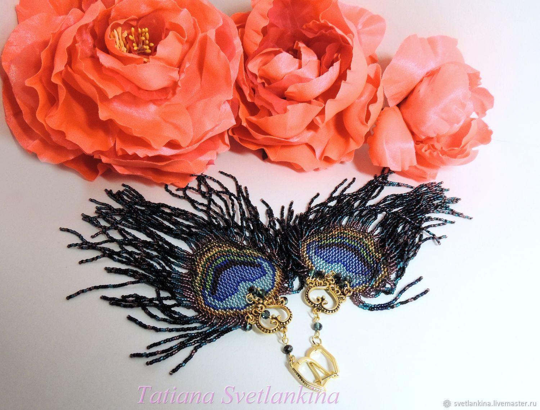 Evening Earrings Peacock Feather, Earrings, Sergiev Posad,  Фото №1
