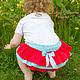 Одежда для девочек, ручной работы. Юбочка-трусики на памперс - блумеры голубой и красный. Ночная Сказка (Лидия). Ярмарка Мастеров.