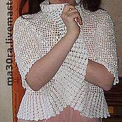 Одежда ручной работы. Ярмарка Мастеров - ручная работа Жакет-болеро Белый цвет. Handmade.