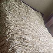 Для дома и интерьера ручной работы. Ярмарка Мастеров - ручная работа Ilifu, ажурное молочное покрывало на двуспальную кровать. Handmade.