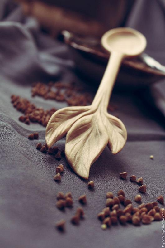 """Ложки ручной работы. Ярмарка Мастеров - ручная работа. Купить Деревянная ложка """"Листья"""". Handmade. Бежевый, дерево, Деревянная посуда"""