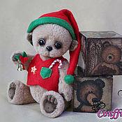 Куклы и игрушки ручной работы. Ярмарка Мастеров - ручная работа Гномик Спайк. Авторский мишка-гномик ручной работы. Handmade.