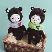 Куклы и игрушки ручной работы. Ярмарка Мастеров - ручная работа Мишаня и его подружка. Handmade.