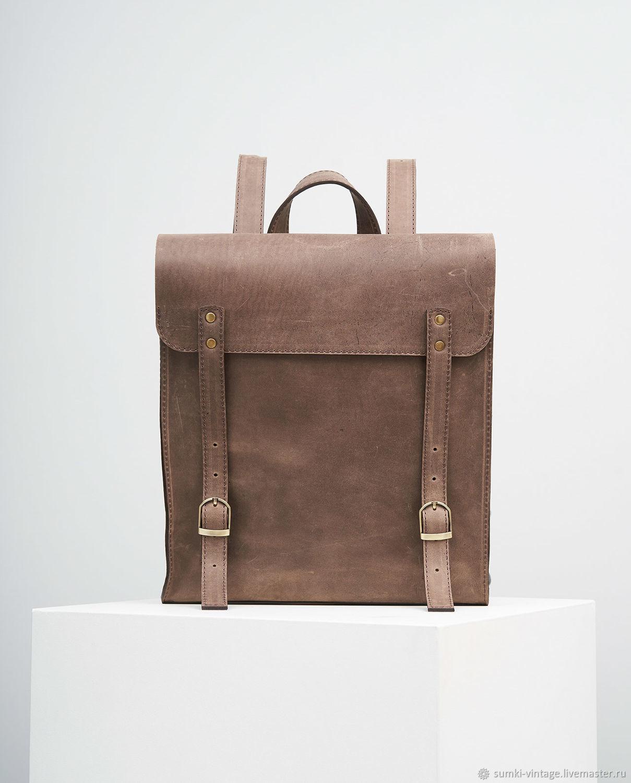 Рюкзак Garret (кожа Vintage) коричневый, Рюкзаки, Киров,  Фото №1