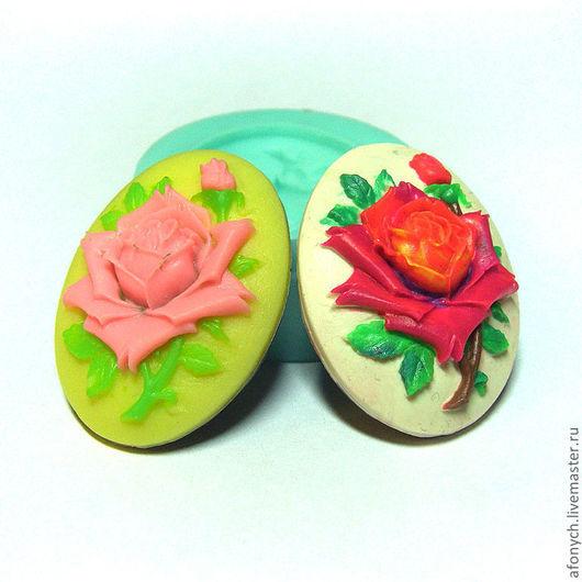"""Для украшений ручной работы. Ярмарка Мастеров - ручная работа. Купить Форма, молд, камея """"Розы"""" (арт.: 27). Handmade."""