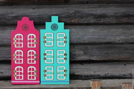 Развивающие игрушки ручной работы. Ярмарка Мастеров - ручная работа. Купить Голландский домик с дверцами на магнитах. Handmade. Фуксия