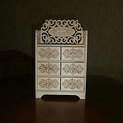 handmade. Livemaster - original item Furniture for dolls: Doll dresser 1564. Handmade.
