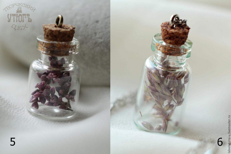 Transparent pendants jars with real flowers and herbs, Pendant, Samara,  Фото №1