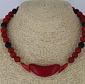 Украшения handmade. Livemaster - original item Choker necklace made of howlite and shungite stones
