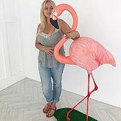 Дизайн ручной работы. Ярмарка Мастеров - ручная работа Объемная фигура Фламинго. Handmade.