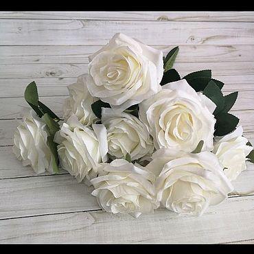 Материалы для творчества ручной работы. Ярмарка Мастеров - ручная работа Искусственные цветы розы букет 10 голов. Handmade.