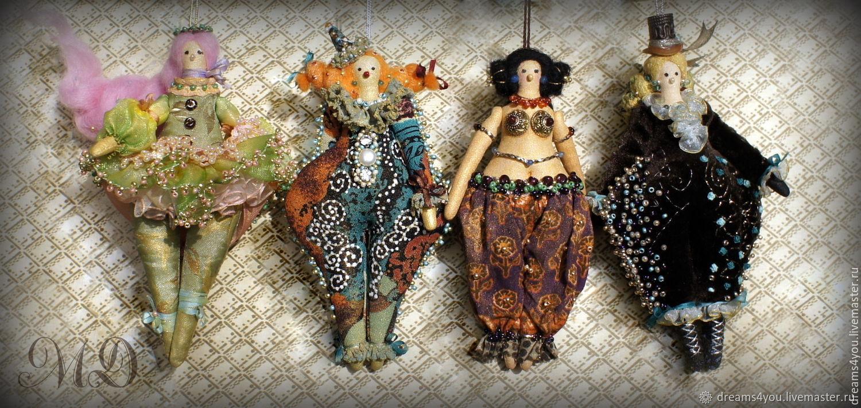 Шапито. Коллекционная текстильная  кукла, Куклы и пупсы, Апшеронск,  Фото №1
