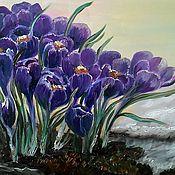 Картины и панно ручной работы. Ярмарка Мастеров - ручная работа Картина маслом Дыхание весны. Handmade.