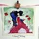 Текстильный купон `Цветущая весна`