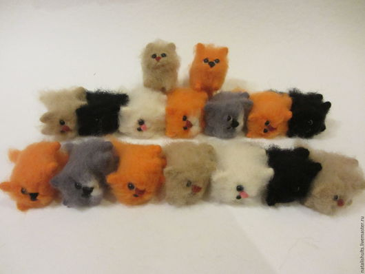 Игрушки животные, ручной работы. Ярмарка Мастеров - ручная работа. Купить укротители котов (для Елены). Handmade. Комбинированный, подарок