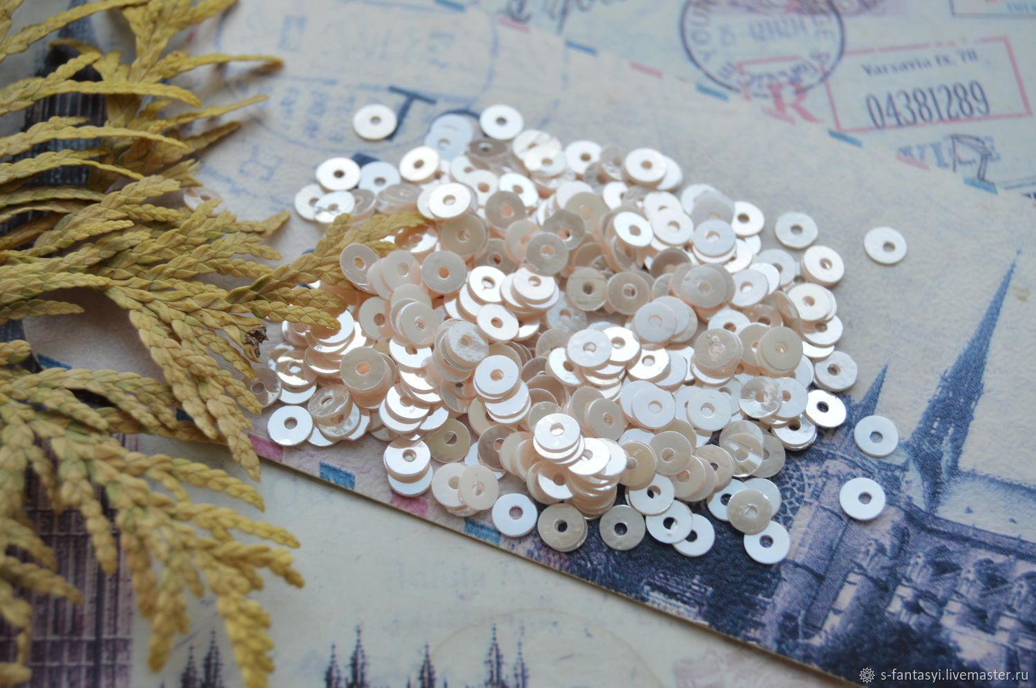 Sequins India: Nude 4 mm, Sequins, Stavropol,  Фото №1