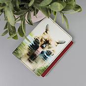 """Обложки ручной работы. Ярмарка Мастеров - ручная работа Обложка на паспорт """"Кот"""" из натуральной кожи. Handmade."""