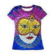 """Одежда ручной работы. Ярмарка Мастеров - ручная работа Женская футболка """"Венеция"""" с авторским принтом 3D. Handmade."""